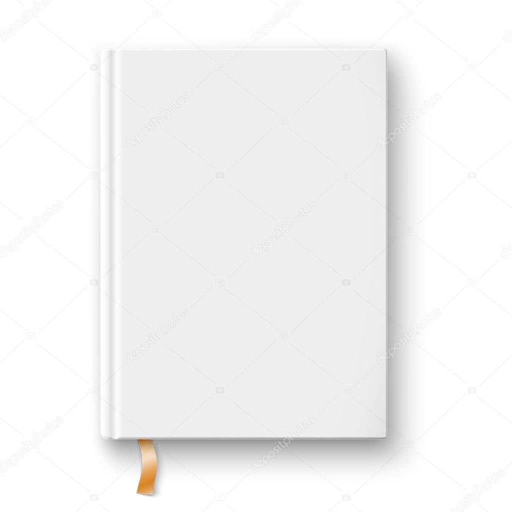 Blank Book Template With Gold Bookmark Stock Vector C Gruffi 56941125
