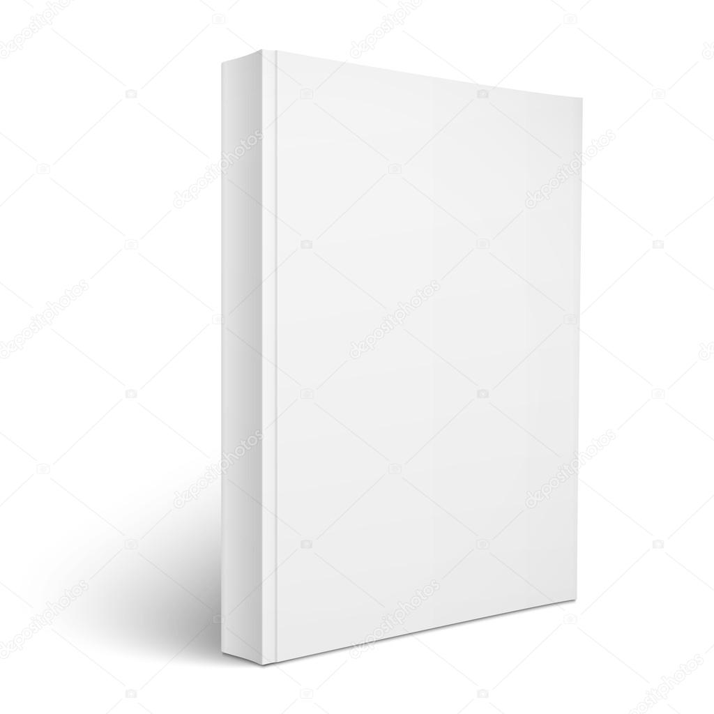 Blank Book Cover Template Ks : Blank vertical softcover book template — stock vector