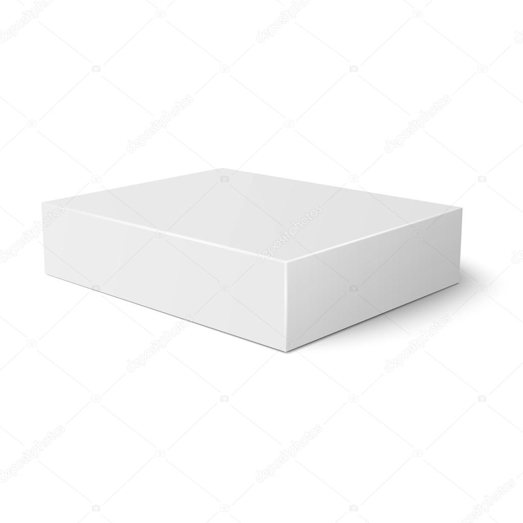 white flat paper box template stock vector gruffi 59453271
