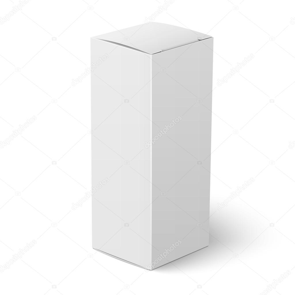 White Vertical Paper Box Template Stock Vector Gruffi 69784509