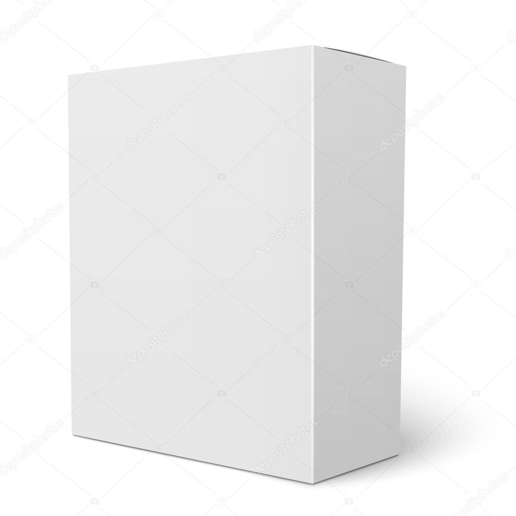 white vertical cardboard box template stock vector gruffi 69891427