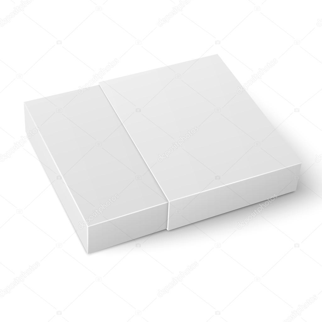 White sliding cardboard box template. — Stock Vector © gruffi #71670453