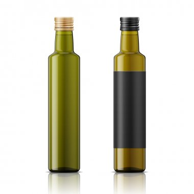 Olive oil bottle template with screw cap.