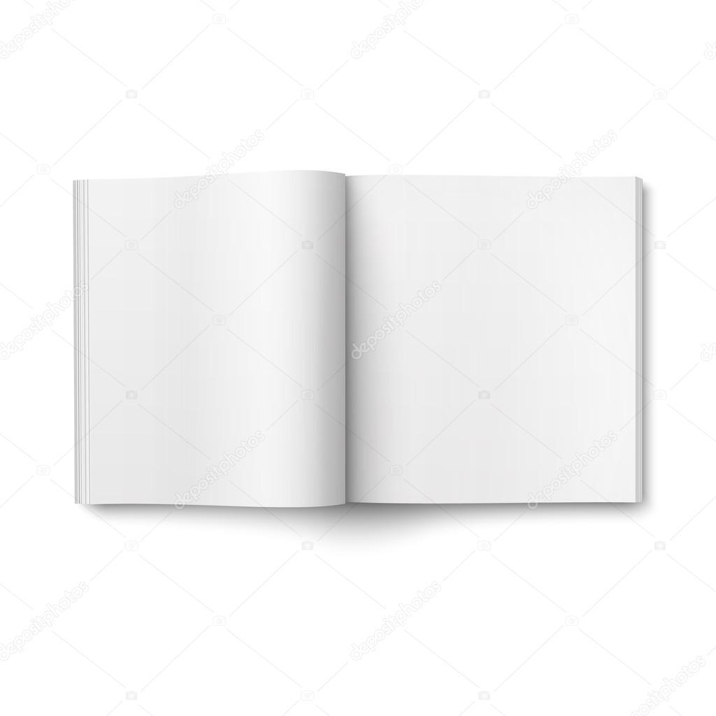 Leere Vorlage öffnen Magazin. Quadratischen format — Stockvektor ...