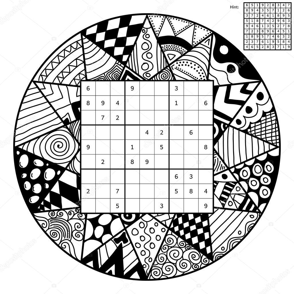 Numero Mandalas Número De Lugar Con Mandala Vector De Stock