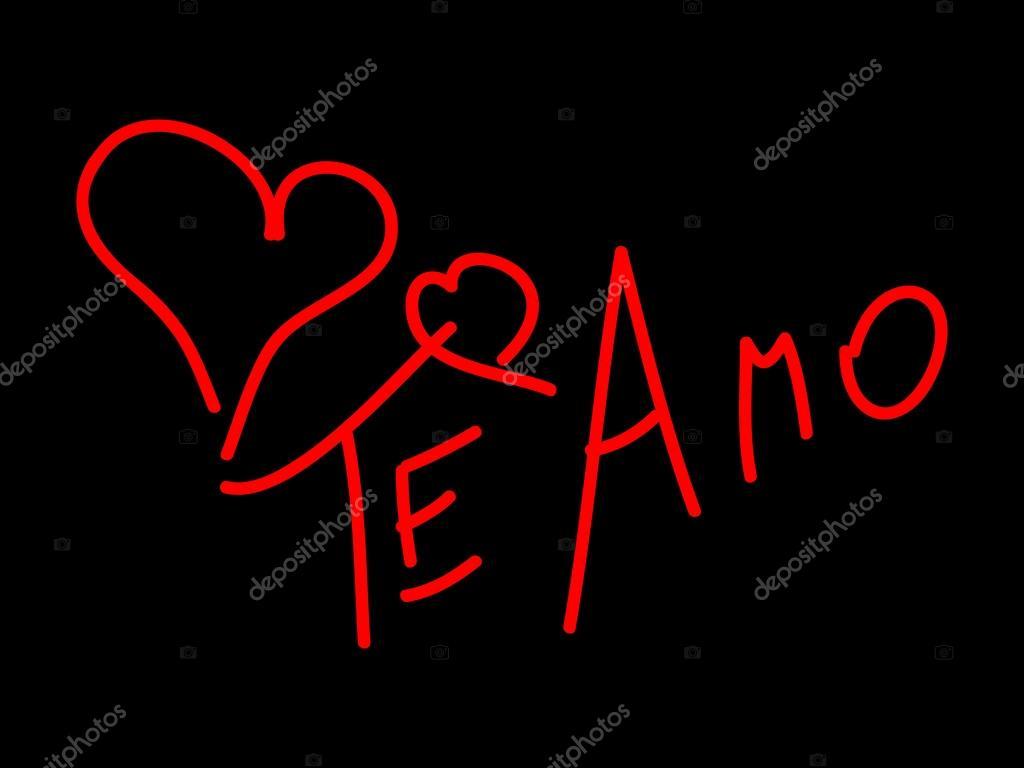 Ich liebe dich auf Spanisch — Stockvektor © Albisoima