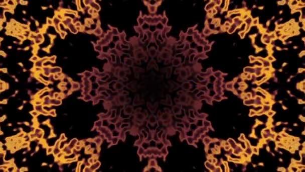 Pěkná motion grafika - kaleidoskopický mandaly