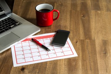 Organizing monthly activities in the calendar