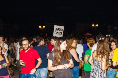 Celebrations in Greece after the referendum results