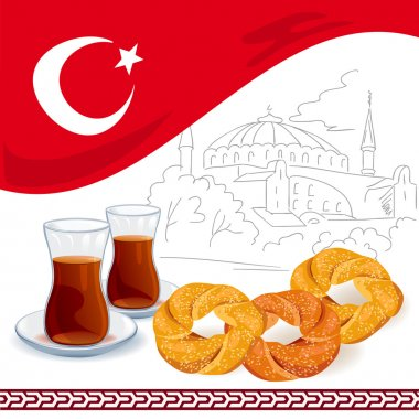 illustration with Turkish elements