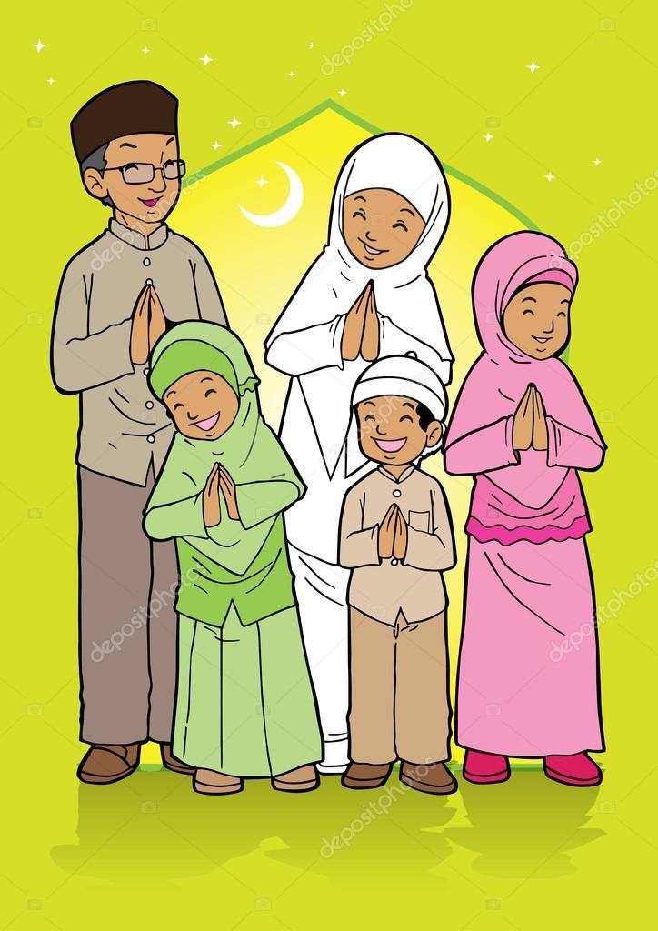 Indonesian muslim family greetings stock vector tujuh17belas indonesian muslim family greetings stock vector m4hsunfo