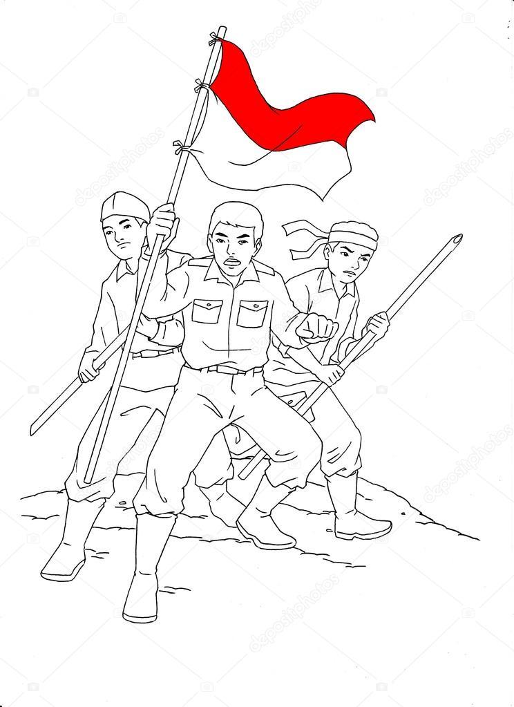 Soldado indonesio en guerra — Fotos de Stock © tujuh17belas #80898426
