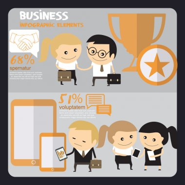 Business People infographics. Office work