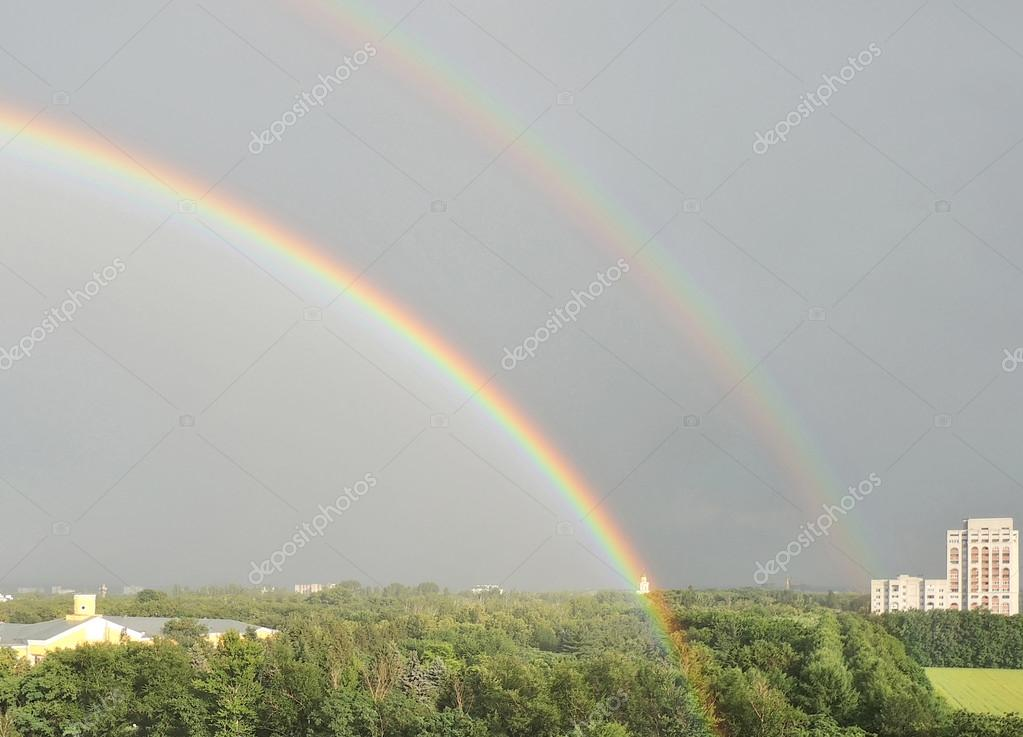 Double rainbow in Vronezh city