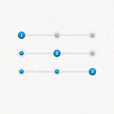 Vector set of step by step  progress bar vector illustration clip art vector