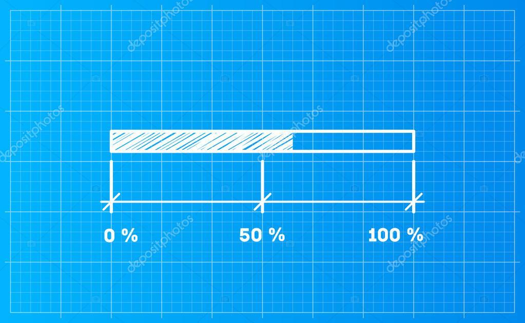 Digiral download bar on a blueprint background stock vector digiral download bar on a blueprint background stock vector malvernweather Image collections
