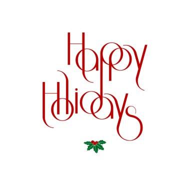 Merry Christmas interlaced lettering vector illustration eps 10 clip art vector