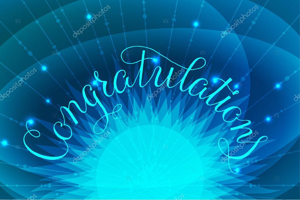 Felicitaciones letras ilustraci n a mano dise o escrito en for Fondos de escrito
