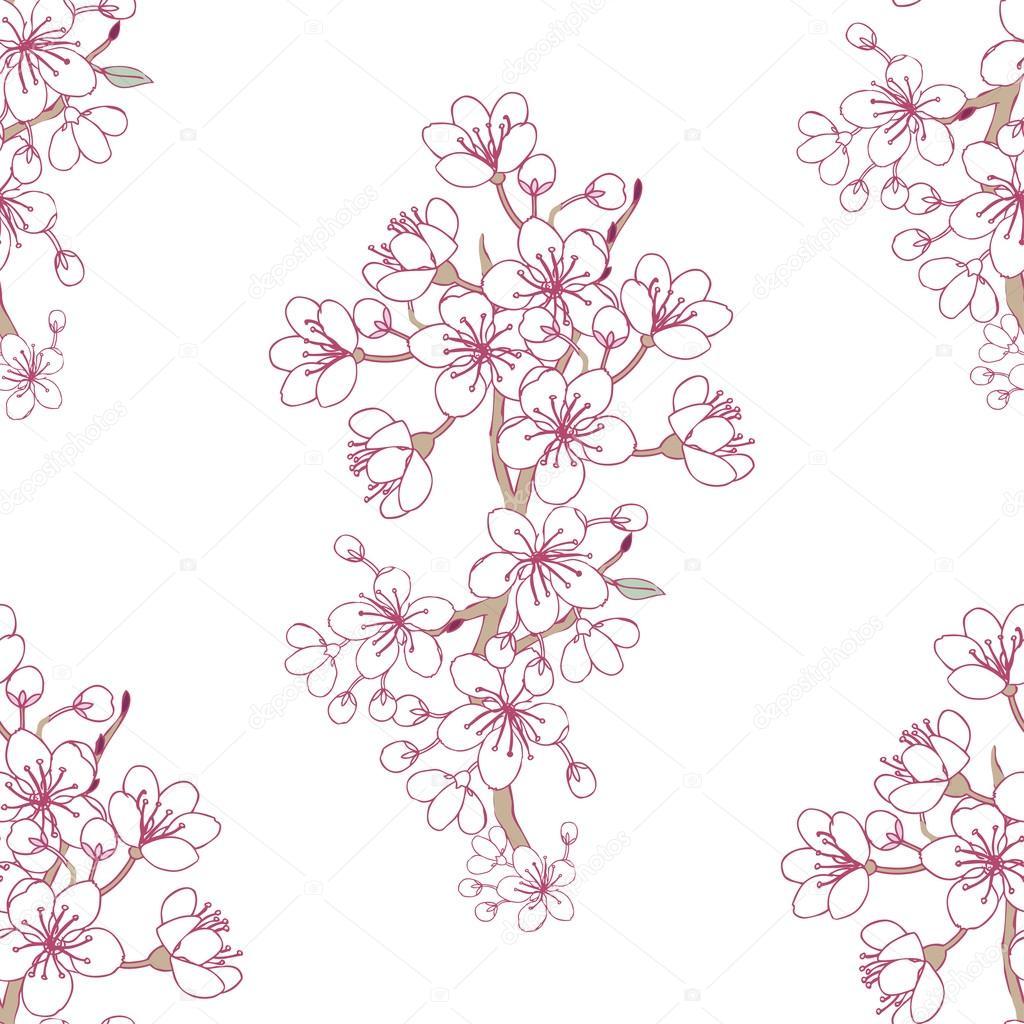Background with sakura