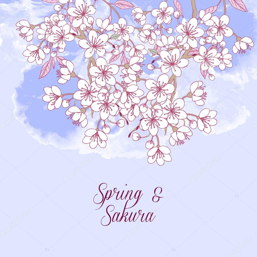 Background with sakura