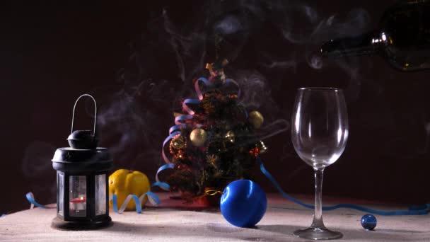 Nový rok dekorace na stole
