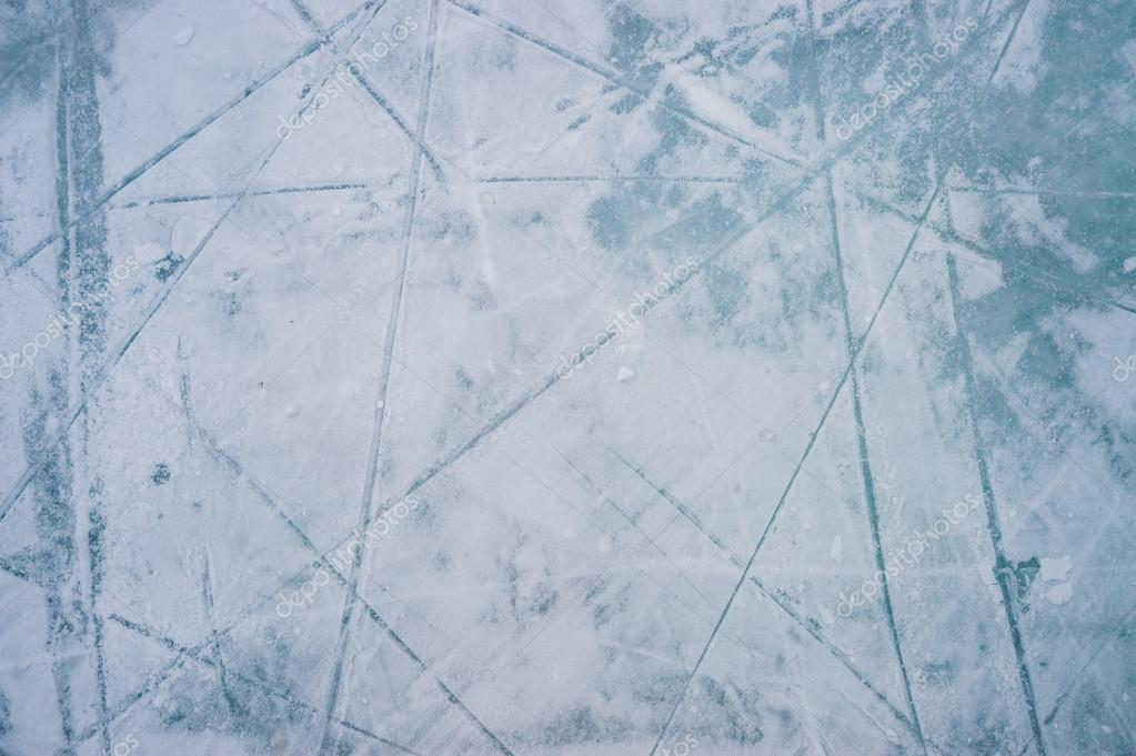 Ice texture on outdoor rink