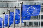 vlajky EU před Evropské Komise v Bruselu