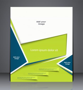 Vector layout business brochure, magazine cover, or corporate de