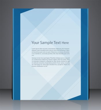 Abstract vector layout flyer, magazine cover, or corporate desig