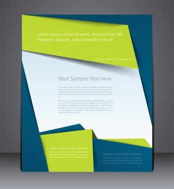 Layout business brochure, magazine cover, or corporate design te