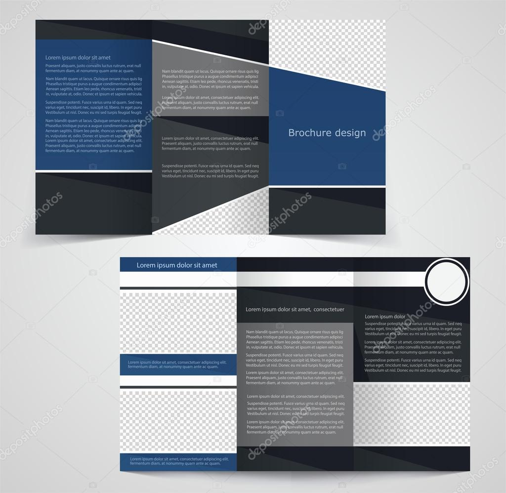 Trifold Business Brochure Template Twosided Template Design - Double sided brochure template