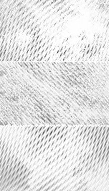 Vintage Halftone Backgrounds, Scattered Black Dots on White Back