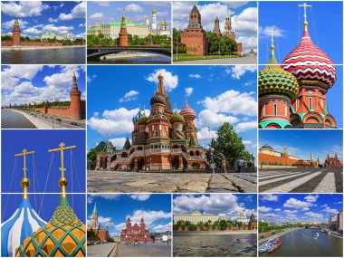Moscow Kremlin, Russia (collage)