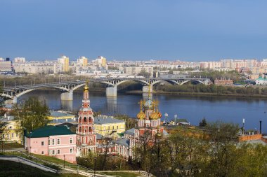 A scenic view of the spring Nizhny Novgorod, Russia