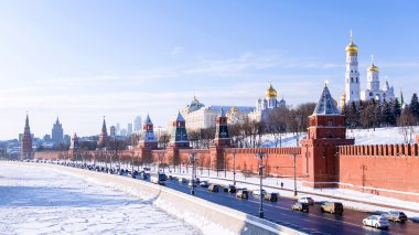 Moscow Kremlin winter view, Russia