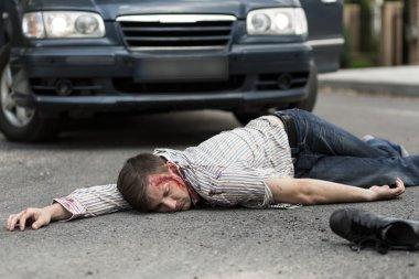 Man hit by a car
