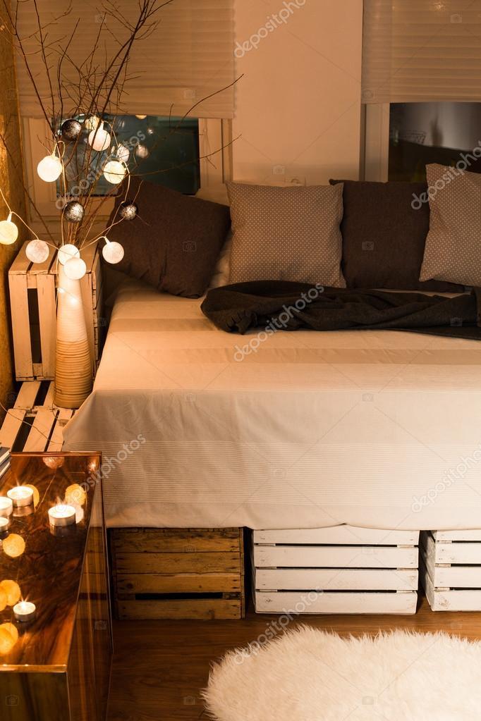 Diy łóżko Poduszki Dekoracyjne Zdjęcie Stockowe