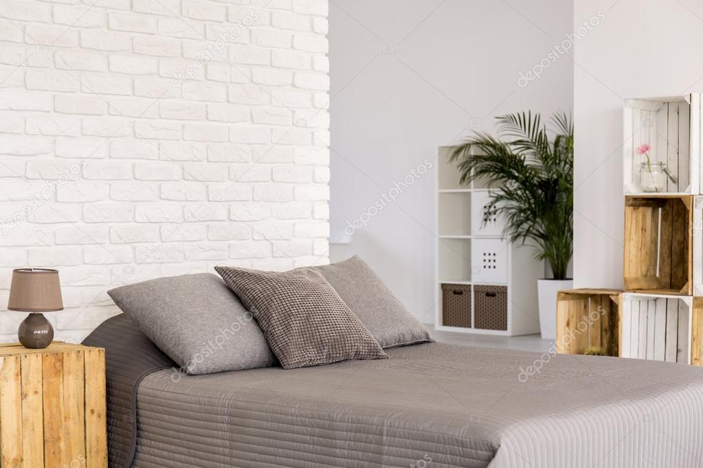 Moderne Schlafzimmer Im öko Stil Stockfoto Photographeeeu