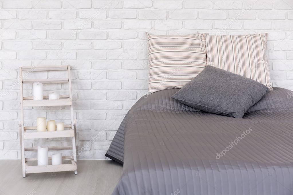 Slaapkamer in minimalistische stijl u stockfoto photographee eu