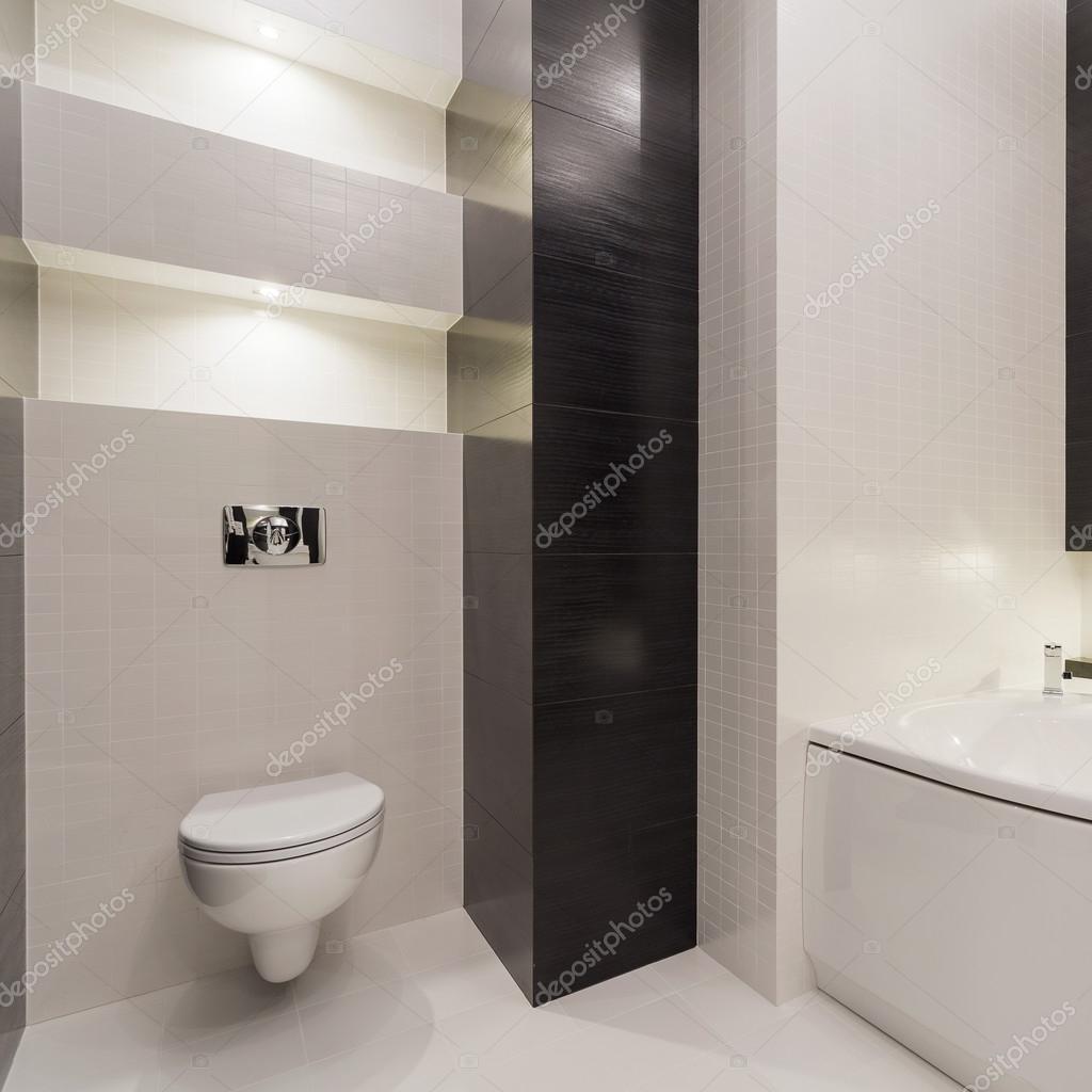 Fekete-fehér modern WC — Stock Fotó © photographee.eu #108091004