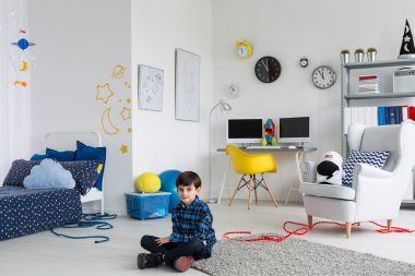 With a little bit of imagination your room can become a space ship