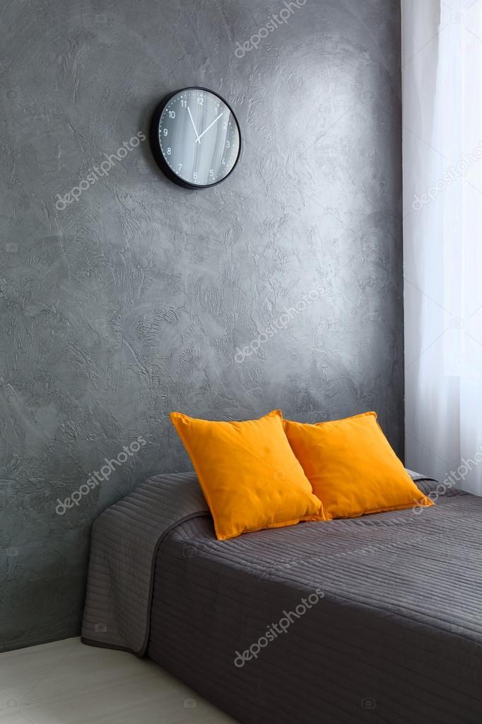 Chambre orange et gris — Photographie photographee.eu © #110665876