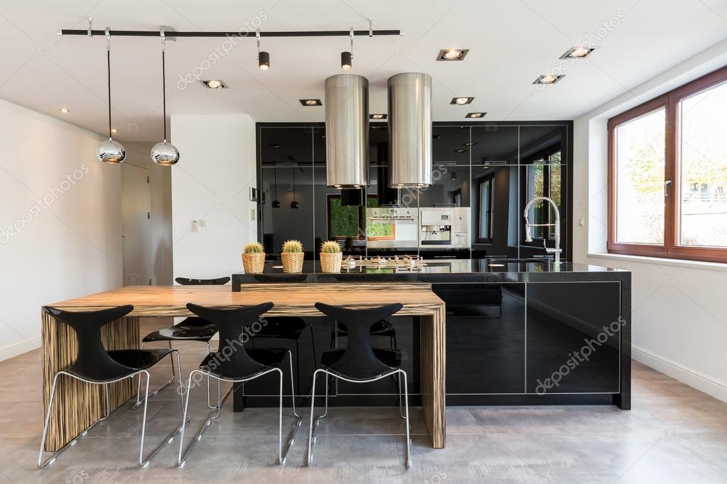 Eetkamer Keuken Open : Open keuken en eetkamer combinatie u stockfoto photographee eu
