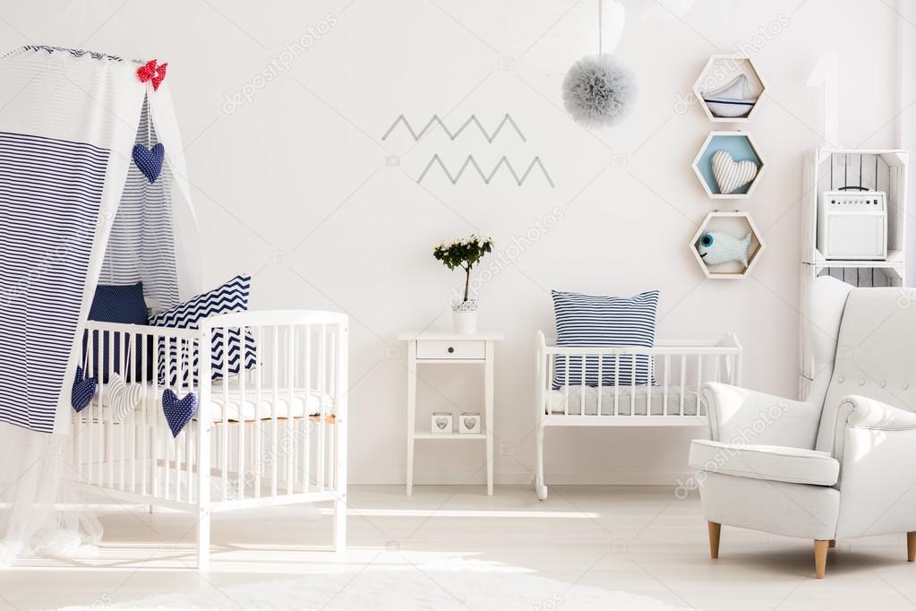 Baby Slaapkamer Decoratie : Baby kamer met goede zee sfeer u stockfoto photographee eu
