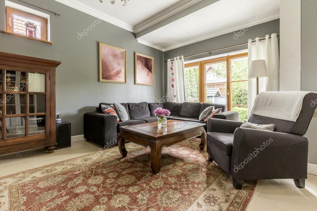 Idea di soggiorno stile classico — Foto Stock © photographee.eu ...