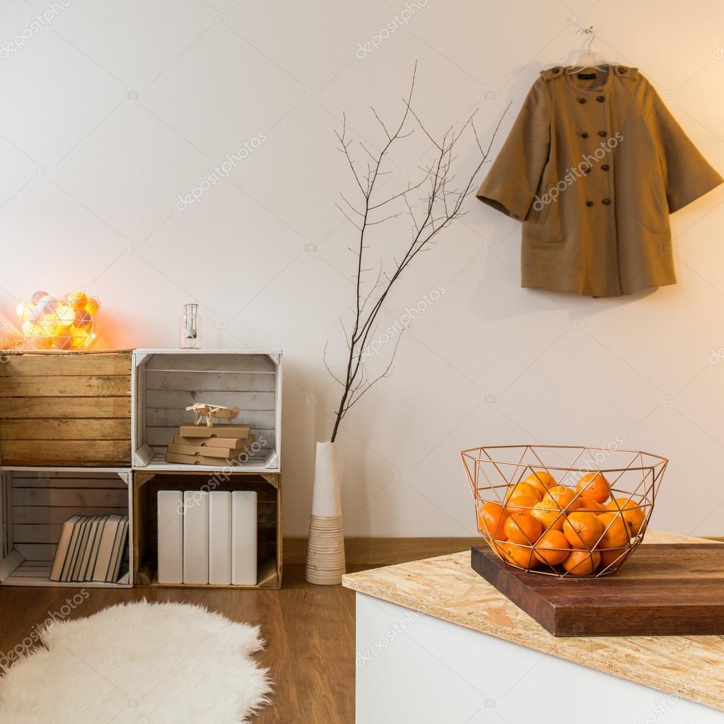 Arredamento contemporaneo di soggiorno spazioso — Foto Stock ...