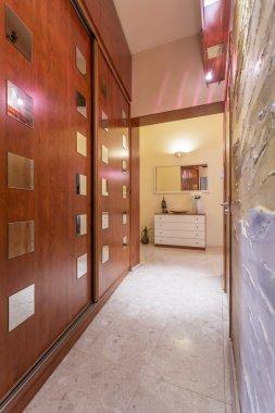 Discreetly hidden storage space of wealthy inhabitants