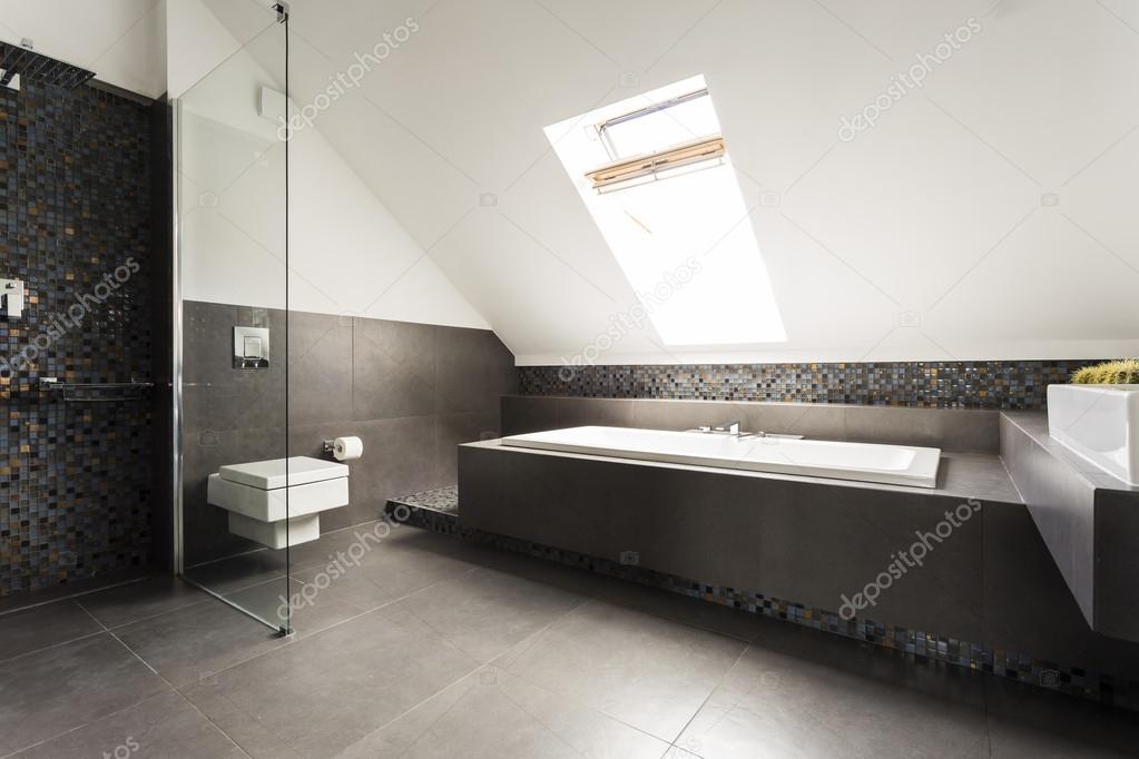 Zwart-wit badkamer idee — Stockfoto © photographee.eu #118825510