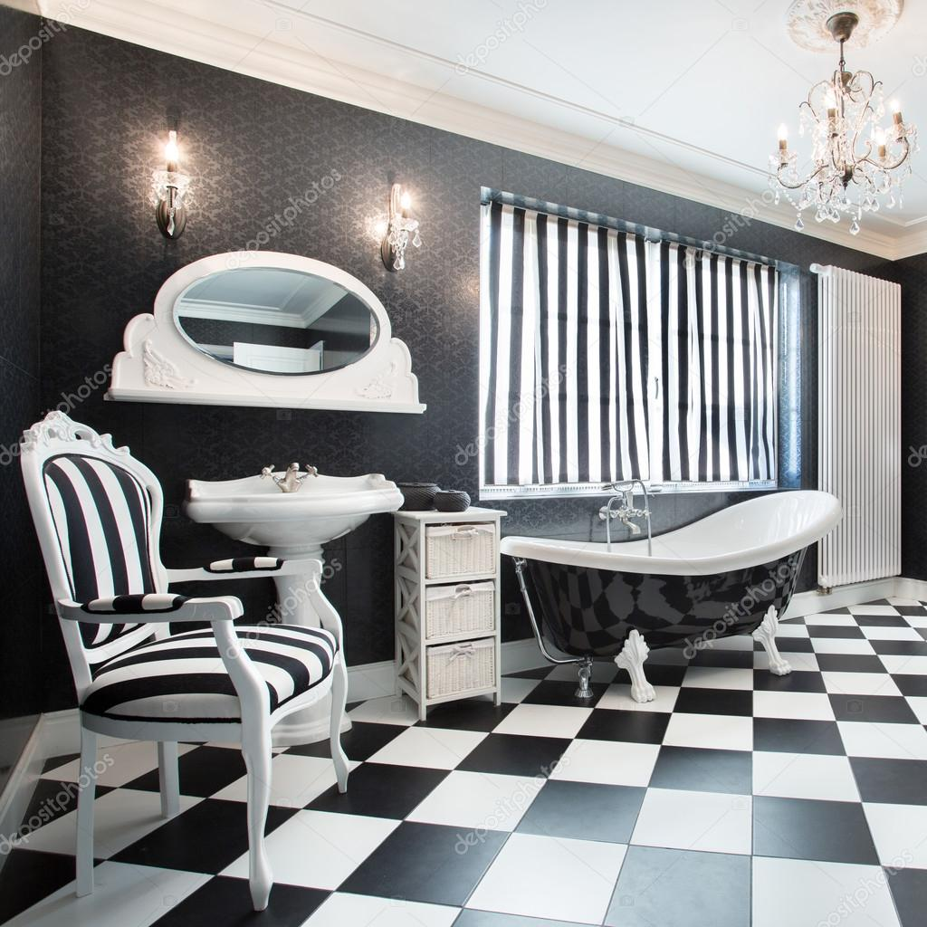 Bagno moderno bianco e nero foto stock - Bagno moderno bianco ...