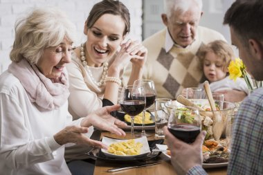 Satisfaction with the preparation of meals for loved ones